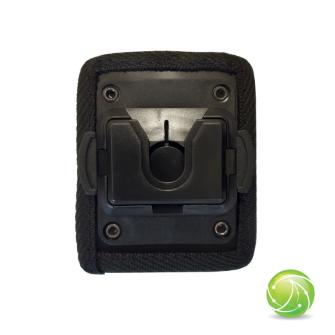 AKKUPOINT Adaptateur plat petit / système Molle en textile / clip rotatif