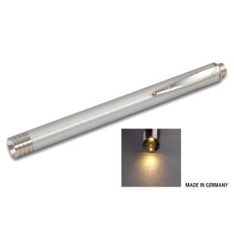 ALU DIAGNOSTICLIGHT Zertifizierte Pupillenleuchte LED WARM-WEISS / silber / MDR / EN 62471