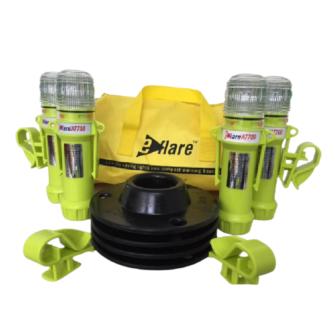 EFLARE LED-Warnblitzleuchten-Set AT700 ATEX / gelb / 8 LED / gelbes Blitz-/Dauerlicht