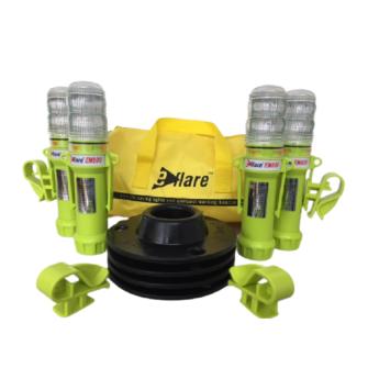 EFLARE LED-Warnblitzleuchten-Set EN800G ATEX / gelb / 36 LED / gelbes Blitz-/Dauerlicht