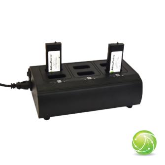AIRBUS / POLYCOM / TETRAPOL / EADS / AKKUPOINT Charging station multi slot for TPH700 / 6 Batteries