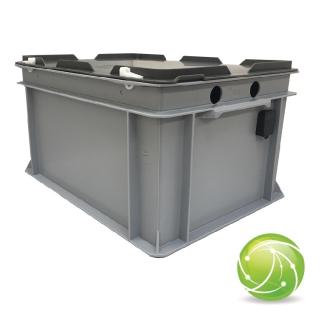 AKKUPOINT CH-DUNKEL-BOX klein / Mehrfach-Ladestation für TPH900 / 6 Akkus