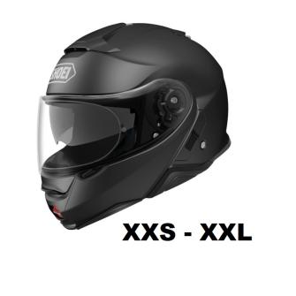 SHOEI Neotec II Motorcycle flip-up helmet P/J homologated without headset / BLACK matt / M