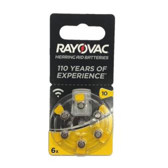 RAYOVAC Hearing aid batteries V10 1.45V Zinc-air