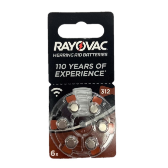 RAYOVAC hearing aid batteries V312 1.45V Zinc-air