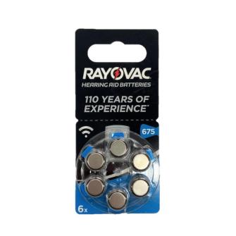 RAYOVAC hearing aid batteries V675 1.45V Zinc-air