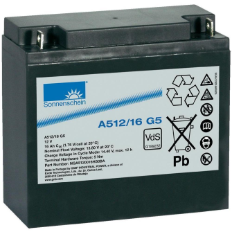EXIDE SONNENSCHEIN Gel A512/16G5 - 0789556500 12V 16Ah Pb G5 / VdS