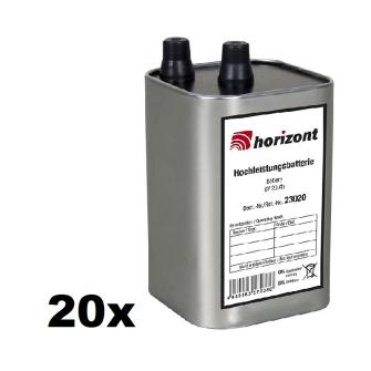HORIZONT Pile haute performance pour lampe chantier 4LR25 6V 20Ah Alkaline