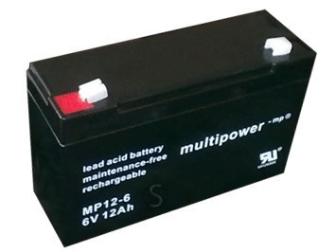 998778 MULTIPOWER MP12-6 6V 12Ah Pb