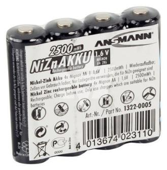 998884 ANSMANN LR06 Ni-Zn-Akku