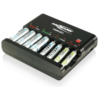 ANSMANN CHARGER Powerline 8 / Table charging-station with discharging function