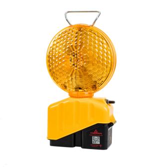 TRIOPAN Blitzleuchte Helios Master mit 2-seitiger 200mm-Linse gelb / mit Klappfüssen