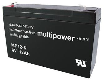 999212 MULTIPOWER MP12-6 6V 12Ah Pb