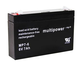999449 MULTIPOWER MP7-6 6V 7Ah Pb