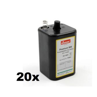NISSEN Pile pour lampe chantier Premium 800 4R25 6V 7-9Ah Zinc-carbone