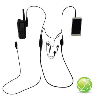 AKKUPOINT FBI KIT BASIC für Smartphone und Funk / Finger PTT / Clip PTT / 3.5mm Jack / zu TPH900