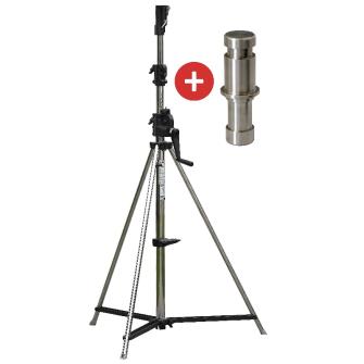 SONLUX Kurbel-Stativ Premium inkl. Stativ-Adapter 28/30mm / Höhe max. 3.80m
