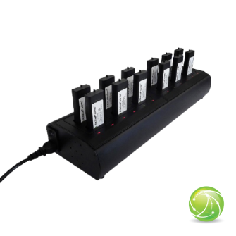 AIRBUS / POLYCOM / TETRAPOL / EADS / AKKUPOINT Charging station multi slot for TPH700 / 12 Batteries