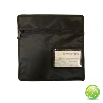 AKKUPOINT Accessories transport bag / both sided zipper with pocket for business cards