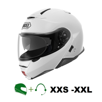 SHOEI Neotec II Motorcycle flip-up helmet P/J homologated with CT headset / WHITE / M