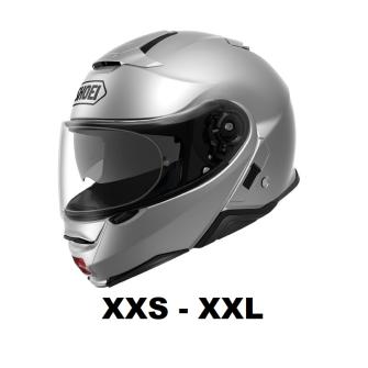 SHOEI Neotec II Motorcycle flip-up helmet P/J homologated without headset / SILVER / M