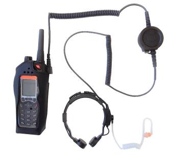 999980 HEADSET Hörsprechgarnitur Kehlkopfmikrofon mit PTT / 90° Stecker / zu TPH700