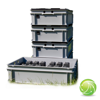AKKUPOINT CH-DUNKEL-BOX gross / Mehrfach-Ladestation für TPH900 / 24 Akkus