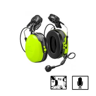 HEADSET PELTOR CH-3 FLX2 mit integriertem PTT, Helmbefestigung, Gehörschutz, gelb / CE