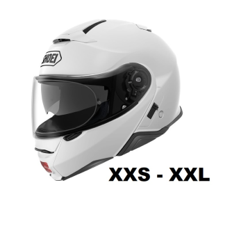 SHOEI Neotec II Motorcycle flip-up helmet P/J homologated without headset / WHITE / M